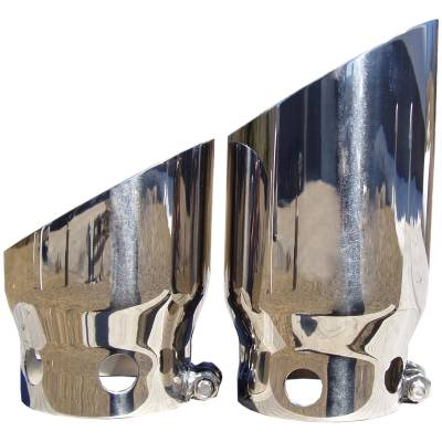 """MBRP Exhaust - MBRP Exhaust 4"""" inlet 5"""" Tip Cover Set - 6 3/4"""" and 9 3/4"""" in length, T304 T5111"""