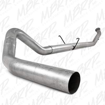 """MBRP Exhaust - MBRP Exhaust 4"""" Turbo Back, Single Side - no muffler S6126PLM"""