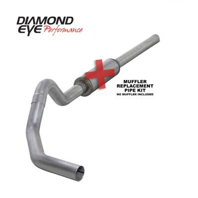 Diamond Eye Performance - Diamond Eye Performance 2004.5-2007.5 DODGE 5.9L CUMMINS 2500/3500 (ALL CAB AND BED LENGTHS)-4in. ALUMIN K4234A-RP