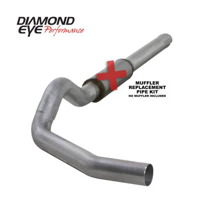 Diamond Eye Performance - Diamond Eye Performance 2004.5-2007.5 DODGE 5.9L CUMMINS 2500/3500 (ALL CAB AND BED LENGTHS)-5in. ALUMIN K5244A-RP