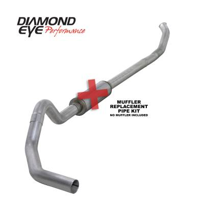 Diamond Eye Performance - Diamond Eye Performance 2004.5-2007.5 DODGE 5.9L CUMMINS 2500/3500 (ALL CAB AND BED LENGTHS)-4in. ALUMIN K4232A-RP