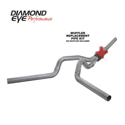 Diamond Eye Performance - Diamond Eye Performance 2004.5-2007.5 DODGE 5.9L CUMMINS 2500/3500 (ALL CAB AND BED LENGTHS)-4in. ALUMIN K4236A-RP