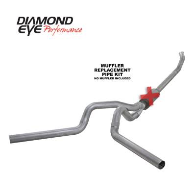 Diamond Eye Performance - Diamond Eye Performance 2004.5-2007.5 DODGE 5.9L CUMMINS 2500/3500 (ALL CAB AND BED LENGTHS)-4in. ALUMIN K4233A-RP