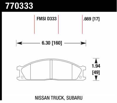 Hawk Performance - Hawk Performance Premium OES; Disc Brake Pads 770333