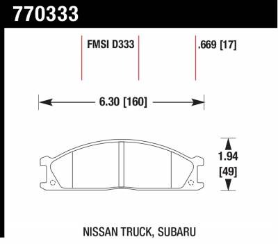 Hawk Performance - Hawk Performance Premium OES; Disc Brake Pads 771109