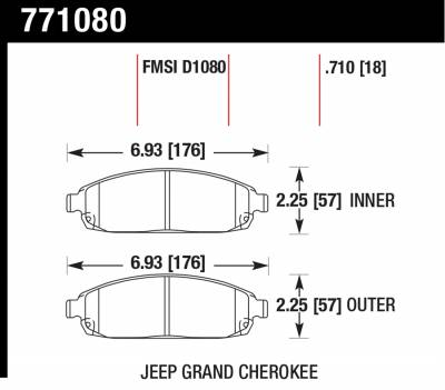 Hawk Performance - Hawk Performance Premium OES; Disc Brake Pads 771080