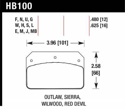 Hawk Performance - Hawk Performance Disc Brake Pad HB100B.480