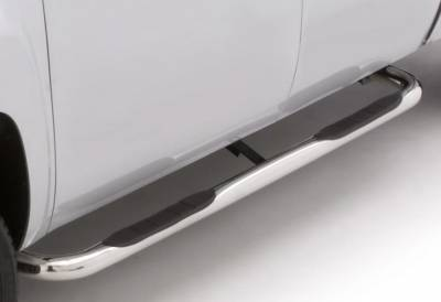 LUND - LUND - 3 In ROUND BENT STAINLES STEEL (1999-2017 Ford F250/F350/F450 Superduty - Standard Cab)