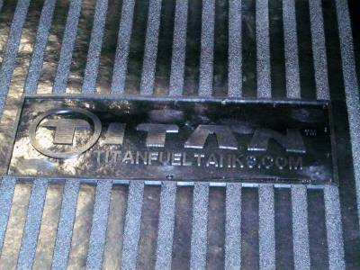 "Titan Fuel Tanks - Titan Fuel Tanks 8' TITAN Utility Truck Bed Mat with logo (96.75"" x 48.75"") 99 0000 0382"