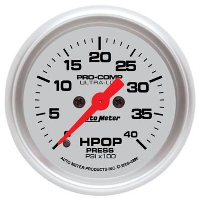 Auto Meter - Auto Meter Gauge; High Press Oil Pump; 2 1/16in.; 4kpsi; Digital Stepper Motor; Ultra-Lite 4396