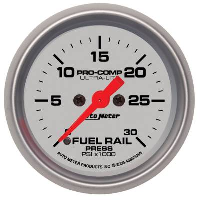 Auto Meter - Auto Meter Gauge; Rail Pressure (RAM 5.9L); 2 1/16in.; 30kpsi; Digital Stepper Motor; Ultra 4386
