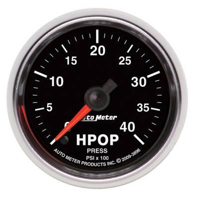 Auto Meter - Auto Meter Gauge; High Press. Oil Pump Press.; 2 1/16in.; 4kpsi; Digital Stepper Motor; GS 3896