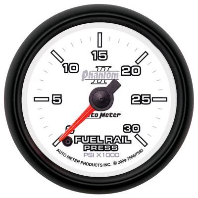 Auto Meter - Auto Meter Gauge; Rail Pressure (RAM 5.9L); 2 1/16in.; 30kpsi; Digital Stepper Motor; Phant 7586