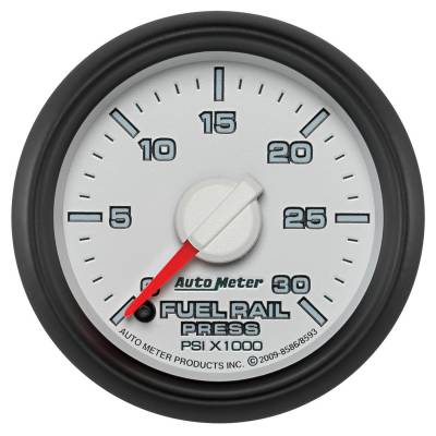 Auto Meter - Auto Meter Gauge; Rail Press; 2 1/16in.; 30kpsi; Digital Stepper Motor; Ram Gen 3 Fact. Mat 8586