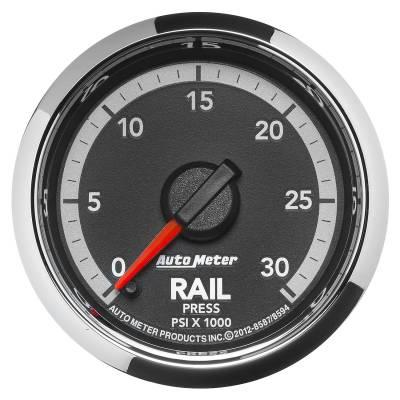 Auto Meter - Auto Meter Gauge; Rail Press; 2 1/16in.; 30kpsi; Digital Stepper Motor; Ram Gen 4 Fact. Mat 8594
