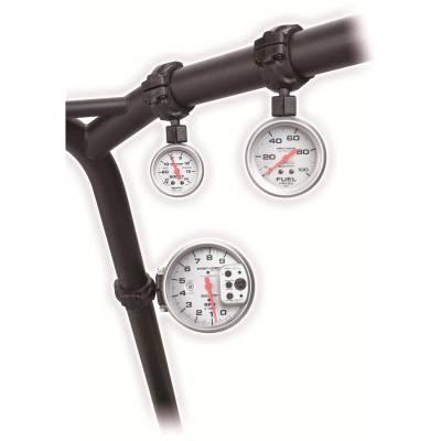 Auto Meter - Auto Meter Gauge Mount; Roll Pod for 1.5in. Roll Cage; fits 2 1/16in. gauge; Black 48000