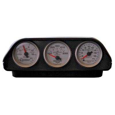 Auto Meter - Auto Meter Gauge Mount; Universal Dash Top; Triple; 2 1/16in.; Black 5288