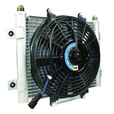BD Diesel - BD Diesel Xtrude Core Heavy Duty Trans Cooler w/Fan & -10 JIC Male Connection 1300611