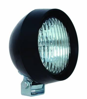 Hella - Hella Rubber Halogen 4.75 Work Lamp (CR) Retail Clamshell H15986011