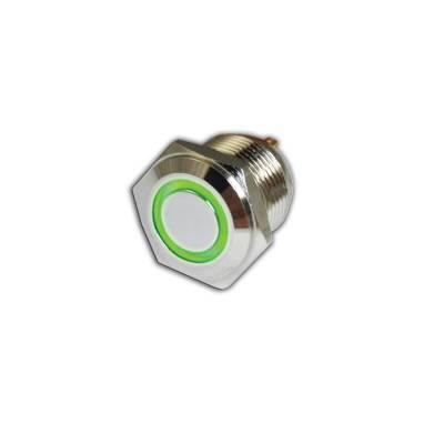 Oracle Lighting - Oracle Lighting ORACLE Momentary Flush Mount  LED Switch - Green 1805-004