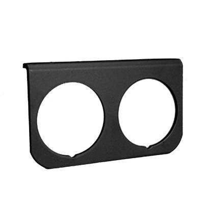 Auto Meter - Auto Meter Gauge Mounting Panel; Dual; 2 1/16in.; black; aluminum 2237