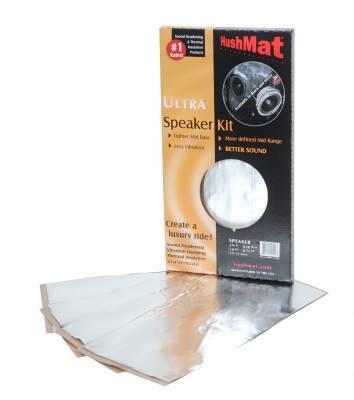 """Hushmat - Hushmat HushMat Ultra Speaker Kit (4) 6"""" x 12""""-Silver Foil 2 Sq. Ft. 10111"""