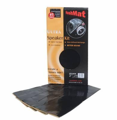 """Hushmat - Hushmat HushMat Ultra Speaker Kit (4) 6"""" x 12""""  Black Foil 2 Sq Ft 10110"""
