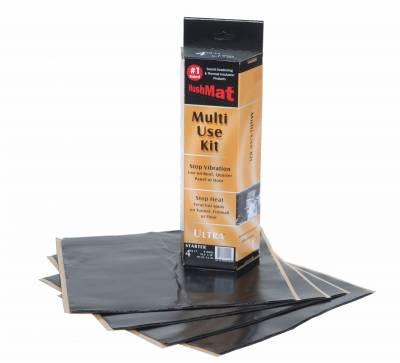 "Hushmat - Hushmat Ultra Insulating/Damping Material Multi Use Kit (4)12""x12"" - Black Foil 4SqFt 10150"
