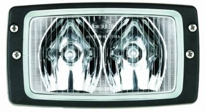 Hella - Hella Module 6213 Halogen Double Beam Flush Mount Work Lamp (LR) H15213017