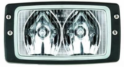 Hella - Hella Module 6213 Halogen Double Beam Flush Mount Work Lamp (LR) H15213011