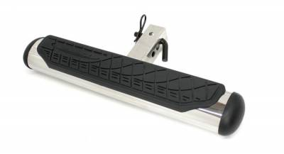 Go Rhino - Go Rhino 4  Oval Hitch Step - Polished Stainless 460PS