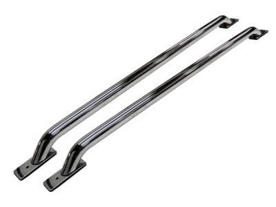 Go Rhino - Go Rhino Stake Pocket Rear   Front Drill Bed Rails - 48  Long (Front & Rear Base Plates) 8048C