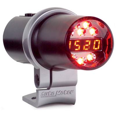 Auto Meter - Auto Meter Shift Light; Digital w/Amber LED; Black; Pedestal Mount; DPSS Level 1 5343