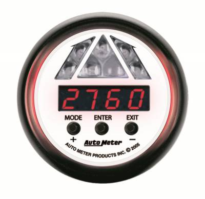 Auto Meter - Auto Meter Gauge; Shift Light; Digital RPM w/Amber LED Light; DPSS Level 1; Phantom 5787