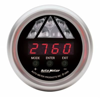 Auto Meter - Auto Meter Gauge; Shift Light; Digital RPM w/Amber LED Light; DPSS Level 1; Sport-Comp 3387