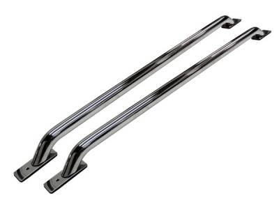 Go Rhino - Go Rhino Stake Pocket Rear   Front Drill Bed Rails - 48  Long (Front & Rear Base Plates) 8048PS