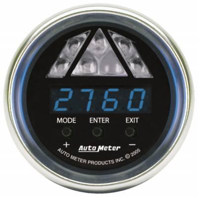 Auto Meter - Auto Meter Gauge; Shift Light; Digital RPM w/Blue LED Light; DPSS Level 1; Cobalt 6187