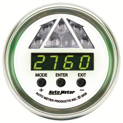 Auto Meter - Auto Meter Gauge; Shift Light; Digital RPM w/Blue LED Light; DPSS Level 1; NV 7387