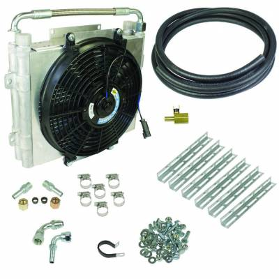 BD Diesel - BD Diesel Xtrude Double Stacked Transmission Cooler Kit - Universial 5/8in Tubing 1030606-DS-58