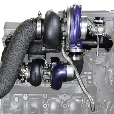 ATS Diesel - *NEW and IMPROVED* Aurora 3000/5000 Twin Turbo Kit, Dodge 1994-1998 12v