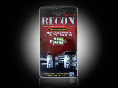 Recon Lighting - Dodge & Jeep High Power Dome Light Set LED Replacement - Fits Dodge RAM 09-16 1500 & RAM 10-16 2500/3500 & Jeep Wrangler 07-16