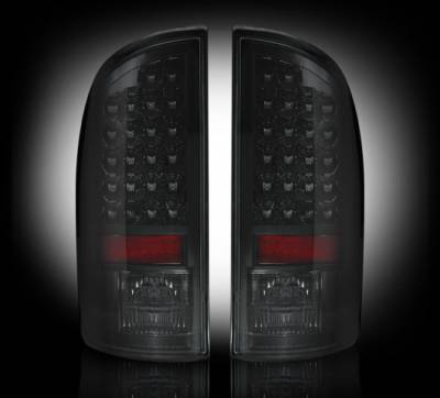 Recon Lighting - Dodge 02-06 RAM 1500 & 03-06 RAM 2500/3500 LED Tail Lights - Smoked Lens