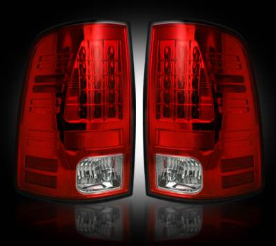 Recon Lighting - Dodge 09-14 RAM 1500 & 10-14 RAM 2500/3500 (Replaces Factory OEM Halogen Tail Lights) - Red Lens