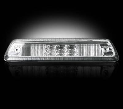 Recon Lighting - Dodge 09-15 RAM 1500 & 10-15 RAM 2500/3500 - Red LED 3rd Brake Light Kit w/ White LED Cargo Lights - Clear Lens