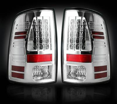 Recon Lighting - Dodge 13-15 RAM 1500 & 10-15 RAM 2500/3500 (Replaces Factory OEM LED Tail Lights) - Clear Lens