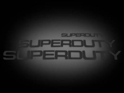 Recon Lighting - Ford 08-16 SUPERDUTY Raised Logo Acrylic Emblem Insert 3-Piece Kit for Hood, Tailgate, & Interior - BLACK