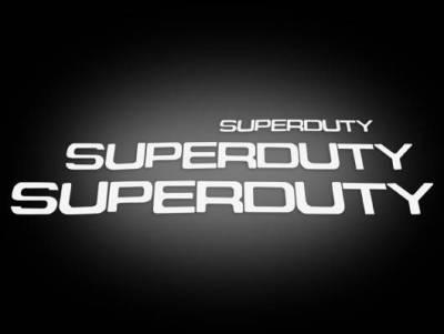 Recon Lighting - Ford 08-16 SUPERDUTY Raised Logo Acrylic Emblem Insert 3-Piece Kit for Hood, Tailgate, & Interior - WHITE