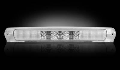 Recon Lighting - Ford 97-03 F150 & F250LD Light-Duty & Ford 00-04 Excursion - Red LED 3rd Brake Light Kit w/ White LED Cargo Lights - Clear Lens