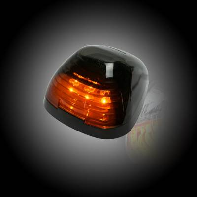 Recon Lighting - Ford 99-16 Superduty (1-Piece Single Cab Light) Smoked Lens with Amber LED's - 1-Piece Single Cab Light ONLY