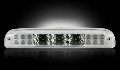 Recon Lighting - Ford 99-16 Superduty F250HD/350/450/550 & 95-03 Ranger & Ford Explorer Sport Trac 01-05 - Red LED 3rd Brake Light Kit w/ White LED Cargo Lights - Clear Lens